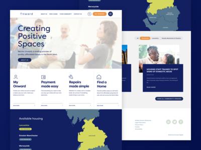 Onward | Social housing web design