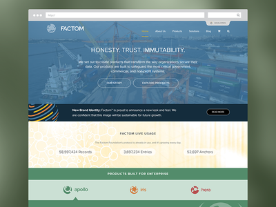 Factom Website Redesign factom inc fct website web blockchain