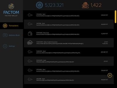 Factoid Wallet cryptocurrency wallet fct factom blockchain app
