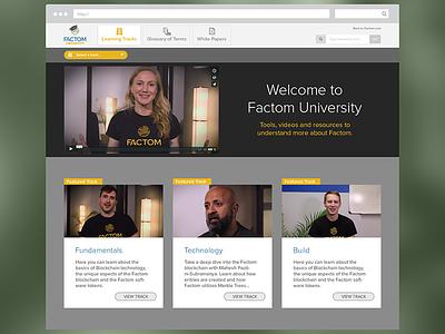 Factom University learning video web fct factom blockchain
