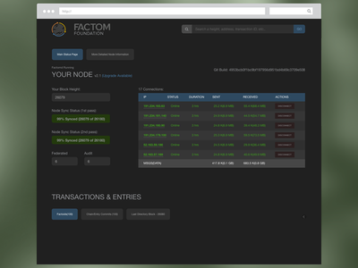 Node Visualizer App node fct factom blockchain app