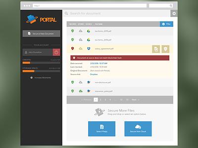 Document Tracking Web App logo branding storage tracking document frontend design web app