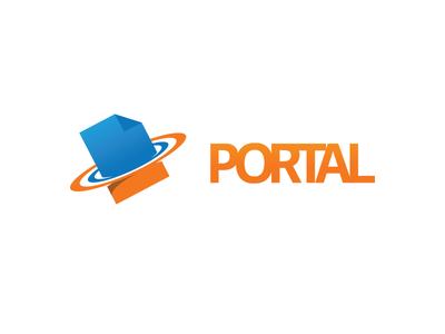 Portal Logo concept app web software brand logo