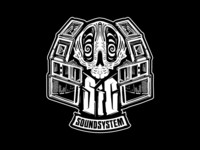 Sharing is Caring Soundsystem Illustrated Logo