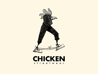 Chicken streetwear illustrated logo footwear chicken streetwear boots laces digital ink ink logo inked sneakerheads sneakers footwear logo illustration illustrated logo ink logo logo design character logo chicken logo