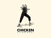 Chicken streetwear illustrated logo