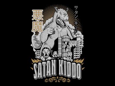 Satan Kiddo - Gojira design tshirt apparel clothing godzilla gojira kiddo satan
