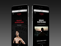 Nsboxing Mobile site design