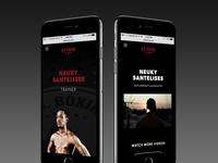 Nsboxing Mobile site design