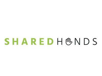 Shared Hands logo design identity branding logo