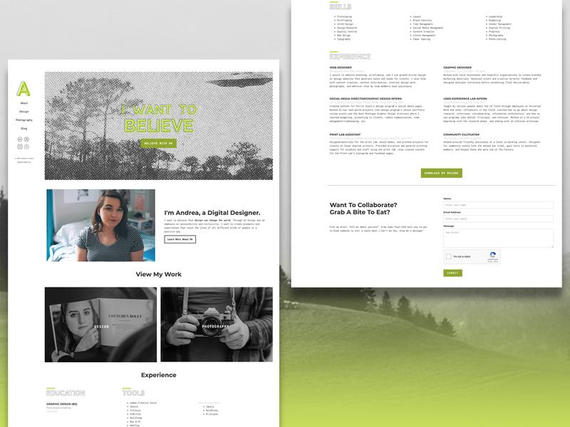 Portfolio Site Homepage design retro aliens ufo website portfolio personal branding identity branding