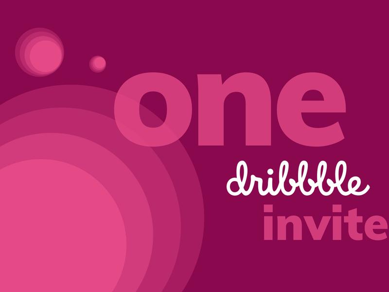 Dribbble Invite - March pink dribbble dribbble invite giveaway dribbble invite
