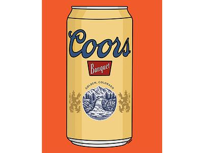 In the Fridge fridge drawing coors beer can beer art beer illustration beer procreate illustration graphic design