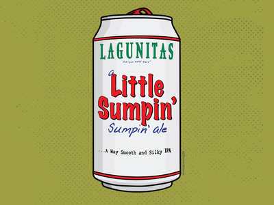 Lagunitas Beer Art ale ipa lagunitas beer can beer art beer procreate illustration graphic design