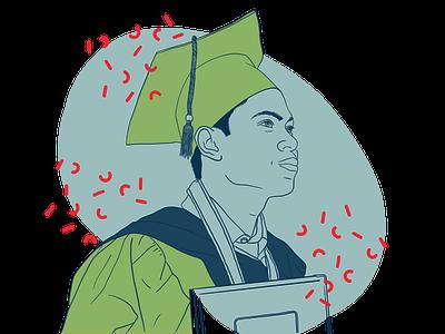 Graduation graphic design website web procreate illustration