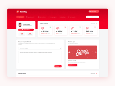 Dashboard Design for Talentsy