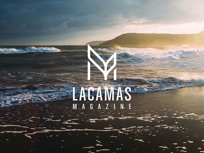 Lacamas Magazine Ocean logo icon branding