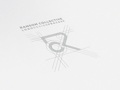 Ransom Collective Logo Process logo icon branding