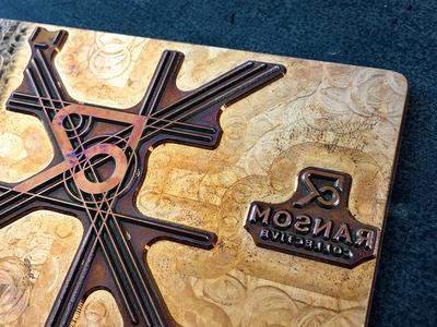 Ransom Collective Heated Copper Plate letterpress logo icon branding