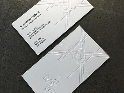 Ransom Collective Card 2 letterpress logo icon branding