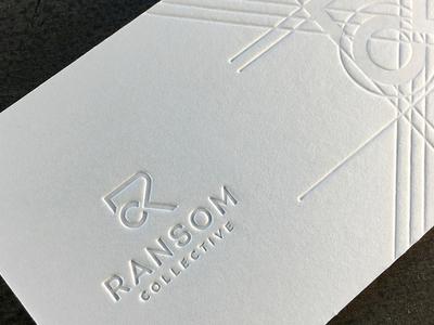 Ransom Collective Card letterpress logo icon branding