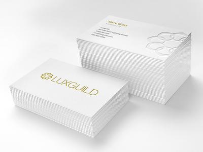 Luxguild Business Card letterpress logo icon branding