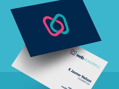 webWONDERFUL Business Card web design branding agency branding icon logo