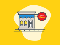a tiny building as seen on the website dribbble.com