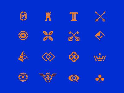 Mark Explorations royal star arrow crown print illustration branding logo symbol icon