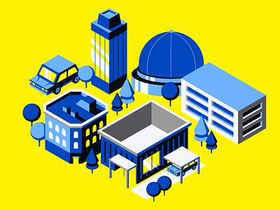 Lil City car city building print illustration branding