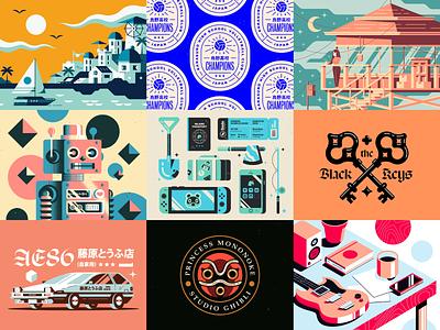 2020 print lettering logo texture typography branding illustrator vector illustration