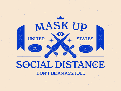 Mask Up print lettering texture logo typography branding