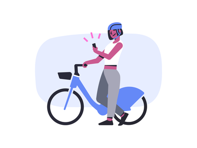 Lyft Bikes lyft athlete bike branding illustrator vector illustration