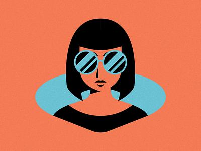 Summer Bae woman summer sunglasses girl texture illustrator vector print illustration branding