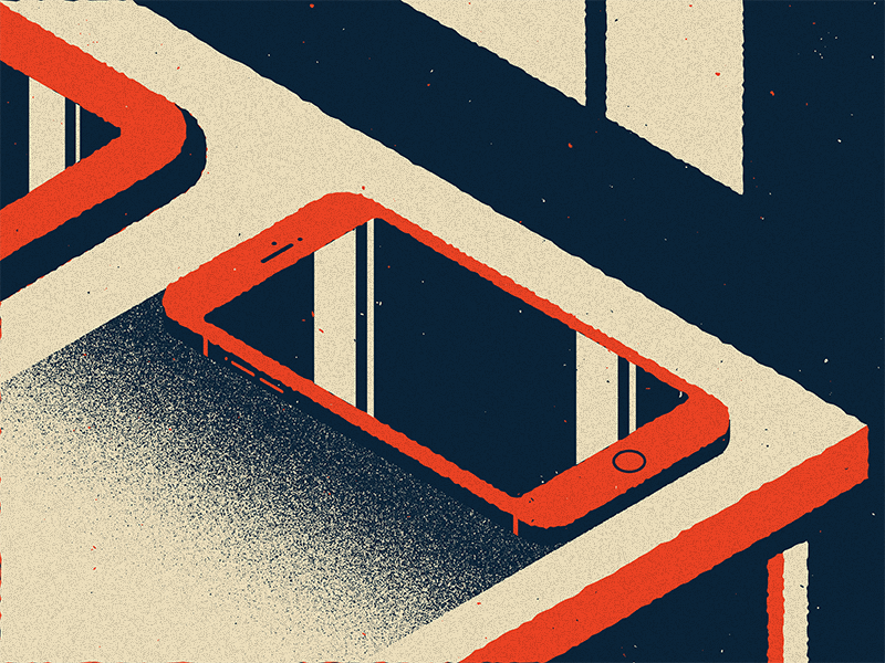 You use to call me on my..... texture grain noise vector illustration isometric iphone