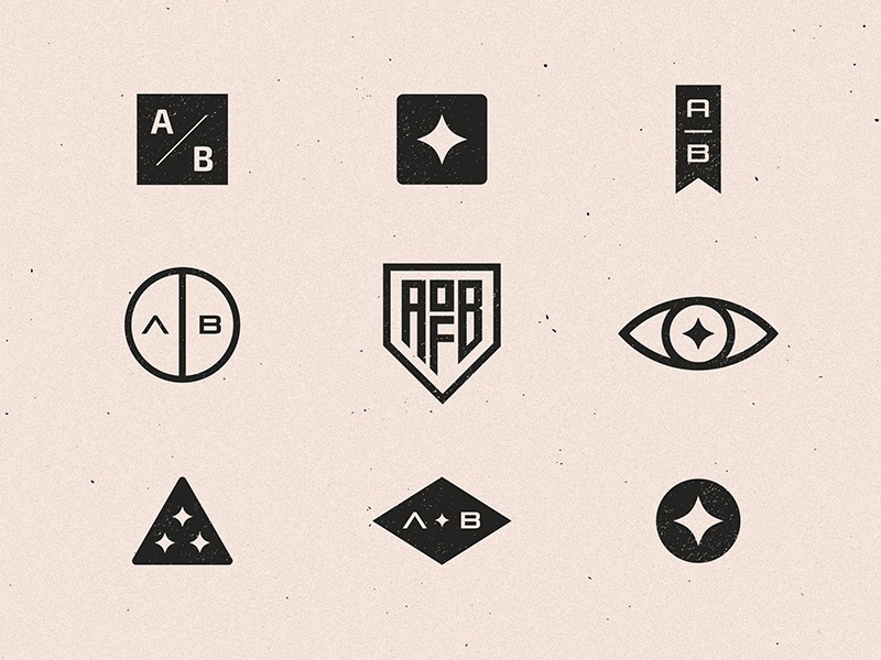 Mark Exploration vector branding grunge texture symbol mark logo