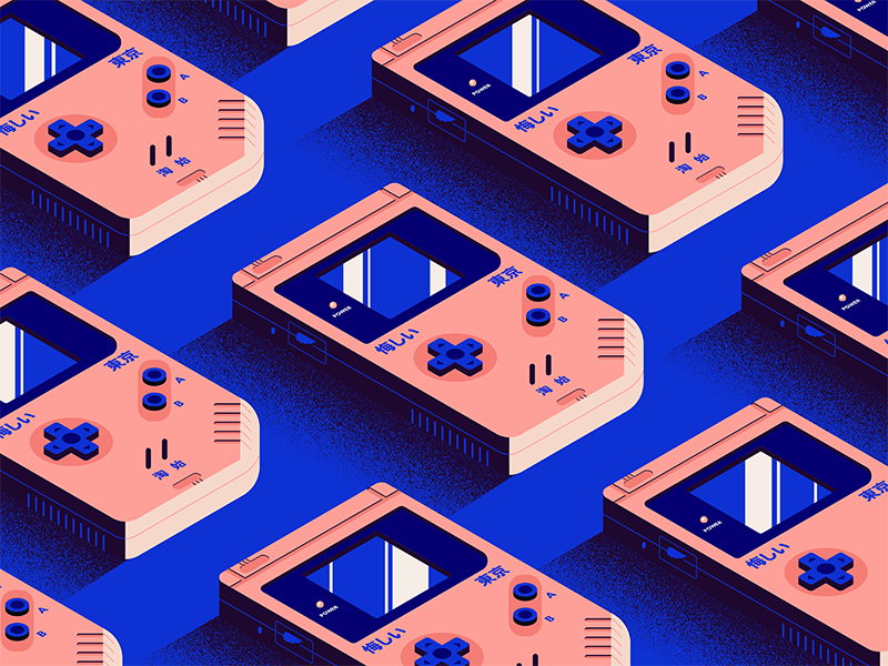 Over & Over texture tile gameboy isometric illustrator illustration vector
