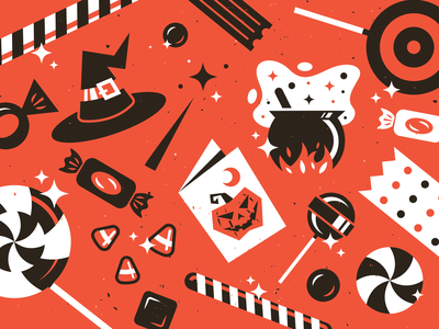 Spooky Season 👻 icon design branding texture illustrator vector illustration holiday lollipop cauldron candy witch halloween