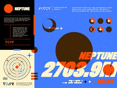 Neptune logo lettering grain typography texture branding design illustrator vector illustration