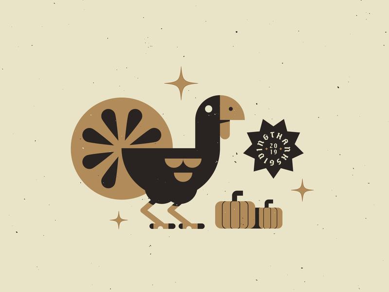 Gobblefest 2019 grain texture branding pumpkin holiday thanksgiving turkey typography illustration