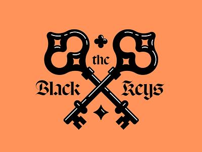 The Black Keys lettering music rock keys typography logo branding