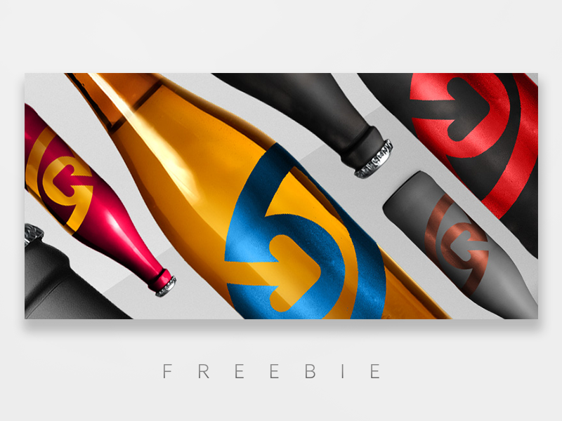 FREE BEER bottle freebie mockup bottle beer free