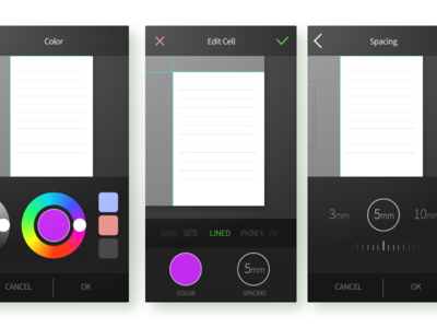 Editing Color And Spacing Inside The Cell ui simple linear legible ios illustration app