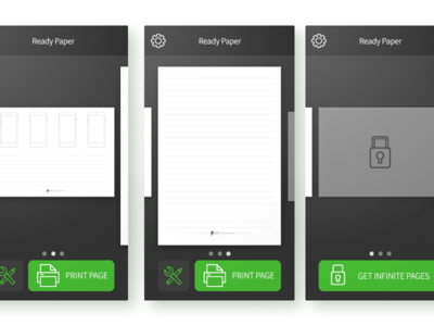 Select Paper Template ui simple linear legible ios illustration icons