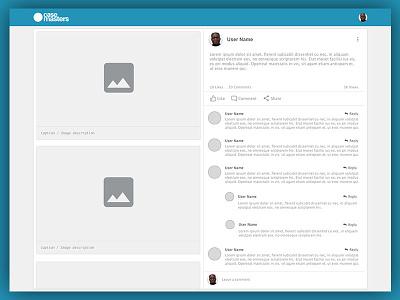 Casemasters Case View caption saas dental social network comments post view ui ux prototype