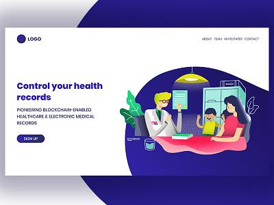 Medical Blockchain prototype ux xd ui design blockchain medical