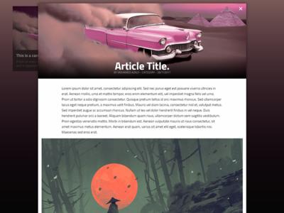 HTML Article Experiment experiment html ui gradient popup article ux
