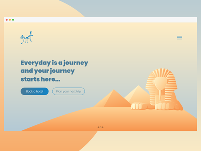 Experiment daily ui travel vector ux illustrations fullscreen slider sky pyramids ui egypt