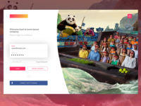 Amusement Park Login Page
