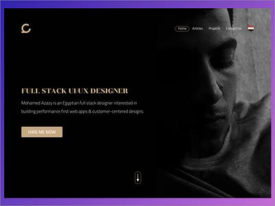 Personal Website English Version 1st Conceprt ui concept website designer portfolio desktop personal